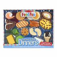 Combine and Dine Dinners BLUE - 18-piece set