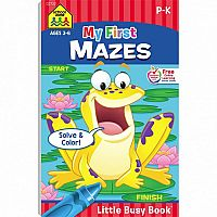 Little Busy Book: My First Mazes (PreK-K)