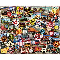 All Aboard Trains - 1000 piece