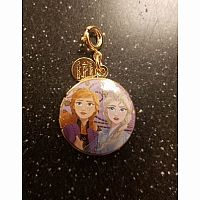 Disney Frozen: Anna and Elsa Gold Locket Charm