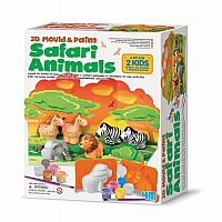 3D Mould & Paint Safari Animals