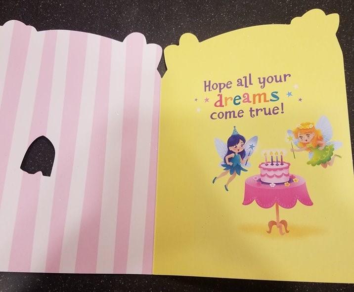 Fairy Tea Party Glitter Birthday Card Raff And Friends