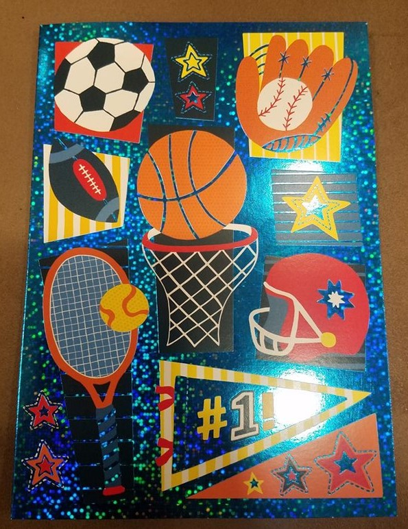 Sports Theme Foil Birthday Card Raff And Friends