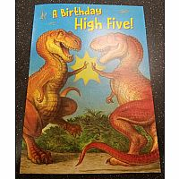 Dino High Five Birthday Card