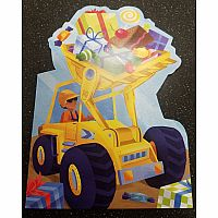 Front Loader with Presents Card