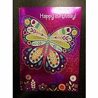 Butterfly Foil Birthday Card