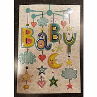 Baby Mobile Embossed Card