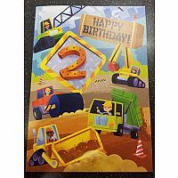 Construction 2nd Birthday Card