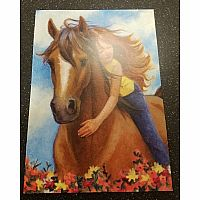 Girl with Horse Birthday Card