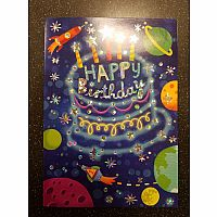 Constellation Cake Foil Birthday Card