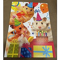 Hamster Party Birthday Card