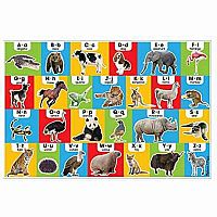 Animal Alphabet Floor Puzzle (24pc)
