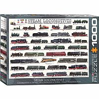 Steam Locomotives - 1000pc