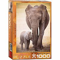 Elephant and Baby 1000pc
