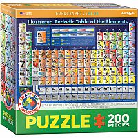 Illustrated Periodic Table of the Elements - 200pc