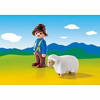 6974 Shepherd with Sheep