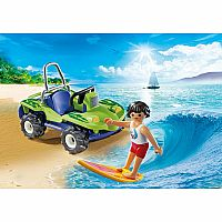 6982 Surfer with Beach Quad