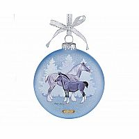 2017 Draft Horses - Artist Signature Glass Ornament