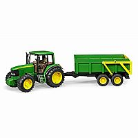 John Deere with Tipping Trailer
