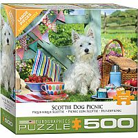 Scottie Dog Picnic 500pc