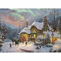 Thomas Kinkade: Santa's Night Before Christmas 2000pc