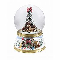 The Gift of Love Musical Snow Globe