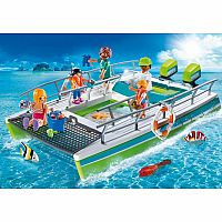 9233 Glass-Bottom Boat with Underwater Motor