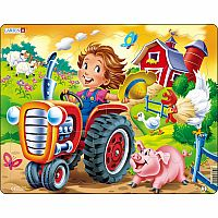 Farm Kid with Tractor 15pc Jigsaw