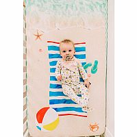 Beach Baby Fitted Crib Sheet