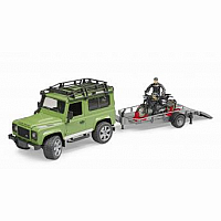 Land Rover Defender Station Wagon with Scrambler Ducati
