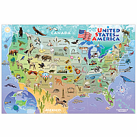 Floor Puzzle: Map of the USA 48pc