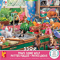 Paws Gone Wild: Kitchen Capers 550pc