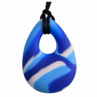 Buds Oval Chewy Pendant 2.0 Blue Swirl