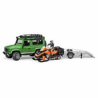Land Rover Defender Station Wagon and Snowmobil