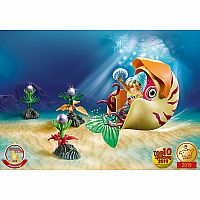 70098 Mermaid with Sea Snail Gondola