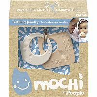 Mochi Double Pendant Necklace – Teething Jewelry
