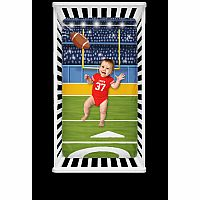 Football Fitted Crib Sheet