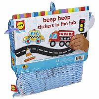 Bath Beep Beep Stickers in the Tub