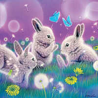 Furry Friends Glitter - Spring Has Sprung 100pc