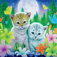 Furry Friends Glitter - Cat Best Friends 100pc