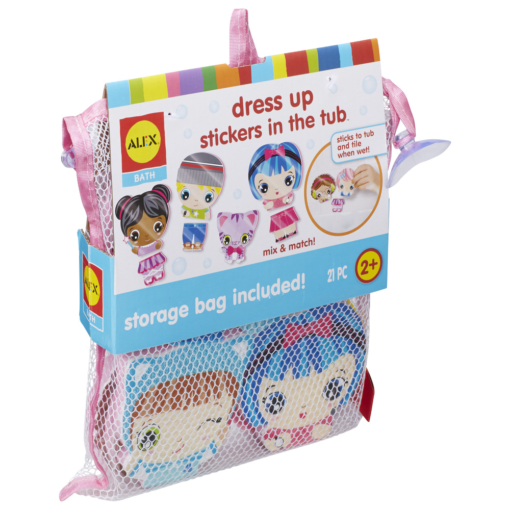 Bath Dress Up Stickers in the Tub - Raff and Friends