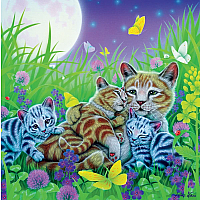 Furry Friends Glitter - Family Cat 100pc