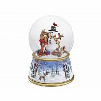 A Gathering of Friends Musical Snow Globe