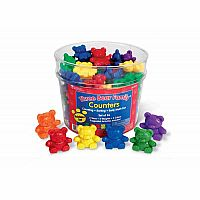 Three Bear Family® Basic Six Color Rainbow Counter Set (Set of 96)