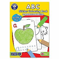 ABC Sticker Coloring Book