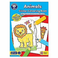 Animals Sticker Coloring Book