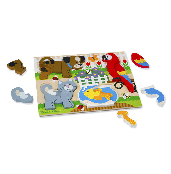pets   chunky jigsaw puzzle   raff and friends