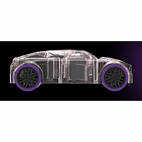 Pull-Back Marble Racer: Purple