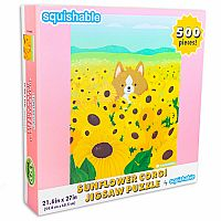 Puzzle: Sunflower Corgi 500pc