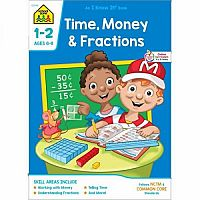 1st-2nd | Time, Money & Fractions Workbook